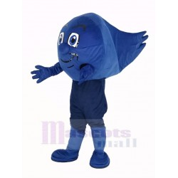 Blue Comet Mascot Costume