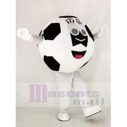 Black and White Football Mascot Costume School