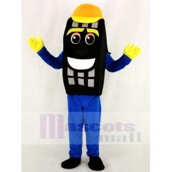 Blue Auto Tyre Cab Tire Mascot Costume