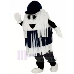 Blue and White Car Wash Cleaning Brush Mascot Costume