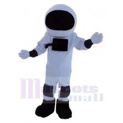 Astronaut Mascot Costume in Black and White Space Suit People