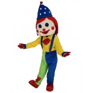Funny Clown with Blue Hat Mascot Costume People