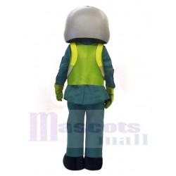 Aircraft Pilot Man Mascot Costume People